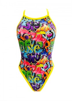 Costume turbo donna intero Graffiti