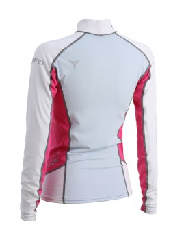 TRILASTIC LONG SLEEVE SHE DIVES RASH GUARD - PINK back