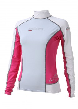 TRILASTIC LONG SLEEVE SHE DIVES RASH GUARD - PINK front