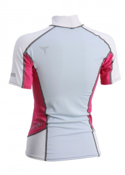 TRILASTIC SHORT SLEEVE SHE DIVES RASH GUARD back