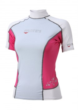 TRILASTIC SHORT SLEEVE SHE DIVES RASH GUARD front