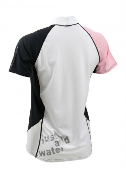 Rash Guard Loose Fit ss donna pink back