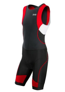 Tyr Competitor back zip red front